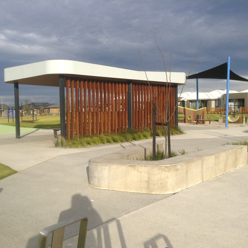 Shelter and playwall design and construction