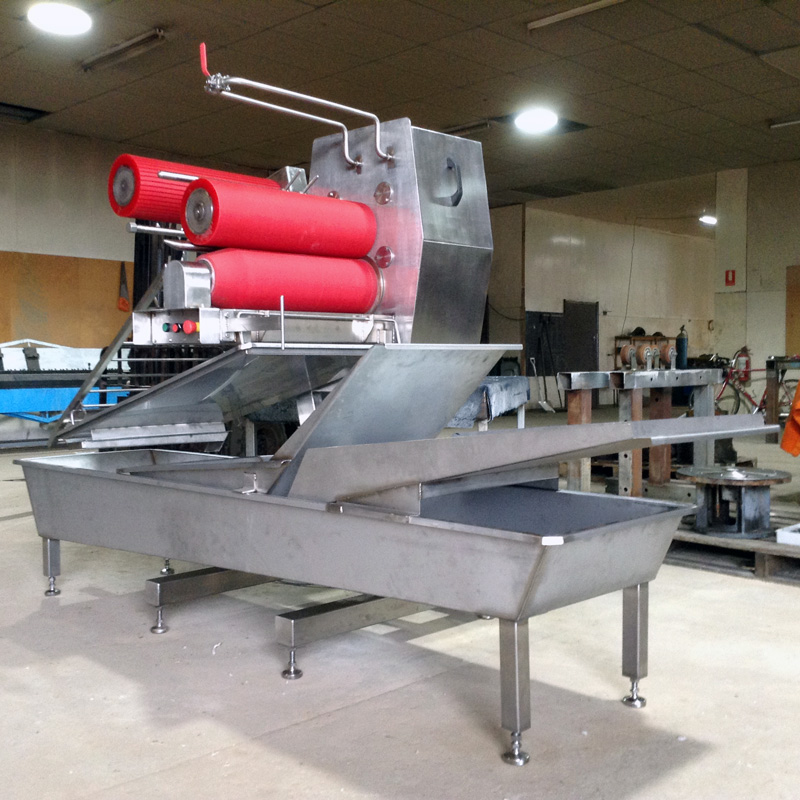 Food Grade Stripping Machine with Post-Roller Combo and Trough