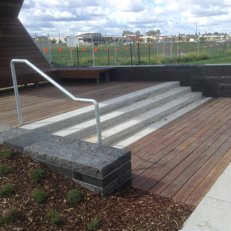 Shade Shelter Deck and Handrail