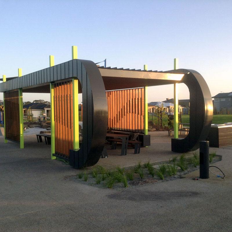 shelter in new housing estate
